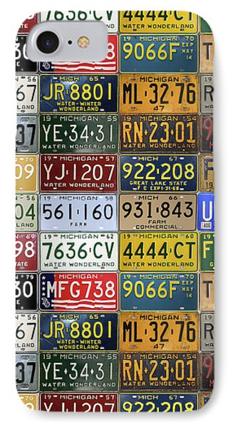 Vintage License Plates From Michigan's Rich Automotive Past IPhone Case by Design Turnpike