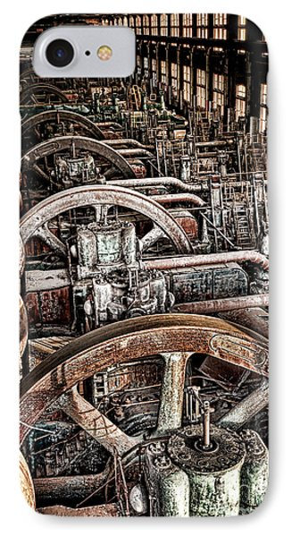 Vintage Machinery IPhone Case by Olivier Le Queinec