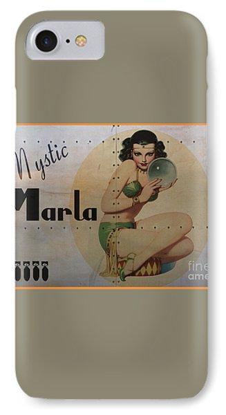 Vintage Nose Art Mystic Marla Phone Case by Cinema Photography