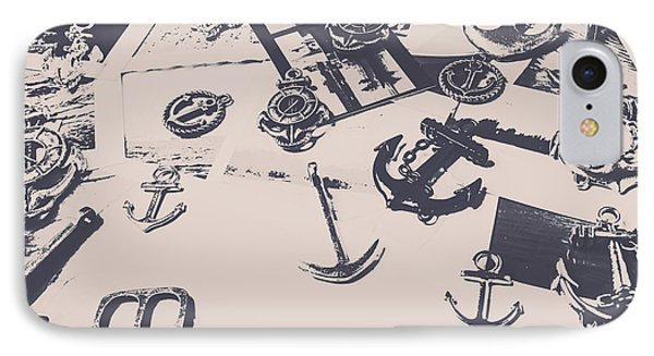 Vintage Sailing Art IPhone Case by Jorgo Photography - Wall Art Gallery