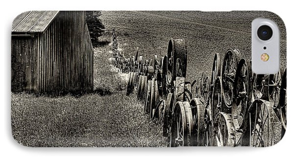 Vintage Wheel Fence Phone Case by David Patterson