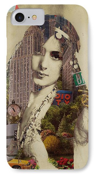 Vintage Woman Built By New York City 1 IPhone Case by Tony Rubino