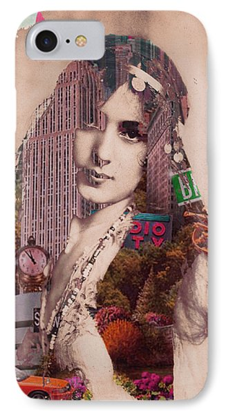 Vintage Woman Built By New York City 2 IPhone Case by Tony Rubino