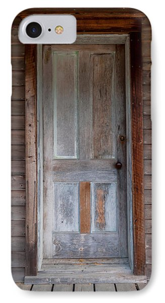 Vintage Wood Door  IPhone Case by Terry DeLuco