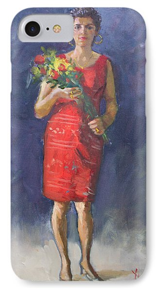 Viola In Red IPhone Case by Ylli Haruni