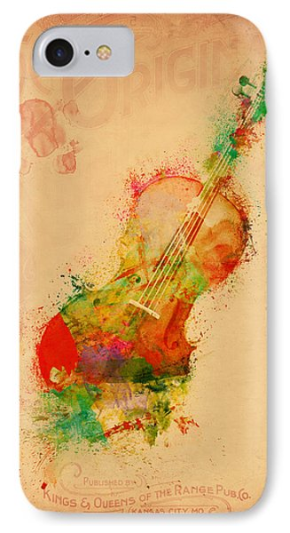 Violin Dreams IPhone Case by Nikki Marie Smith