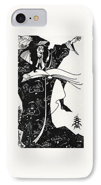 Virgilius The Sorcerer IPhone Case by Aubrey Beardsley
