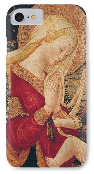 Virgin And Child  IPhone Case by Neri di Bicci