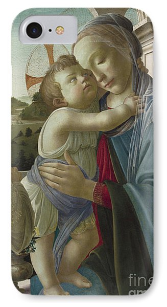 Virgin And Child With An Angel IPhone Case by Botticelli