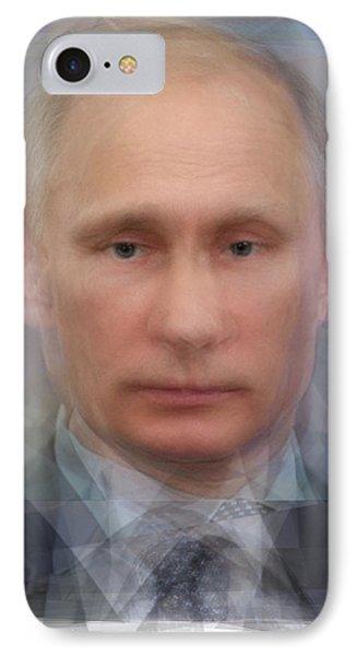Vladimir Putin Portrait IPhone Case by Steve Socha