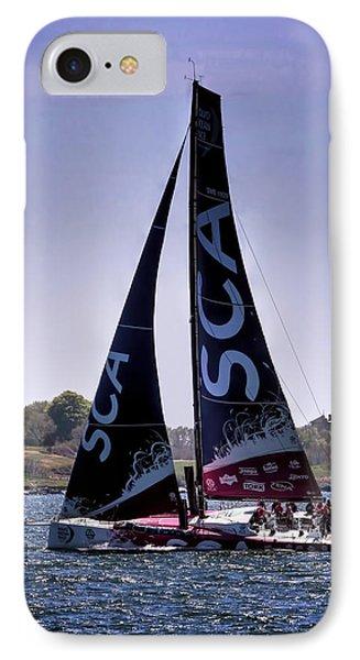 Volvo Ocean Race Team Sca IPhone Case by Tom Prendergast