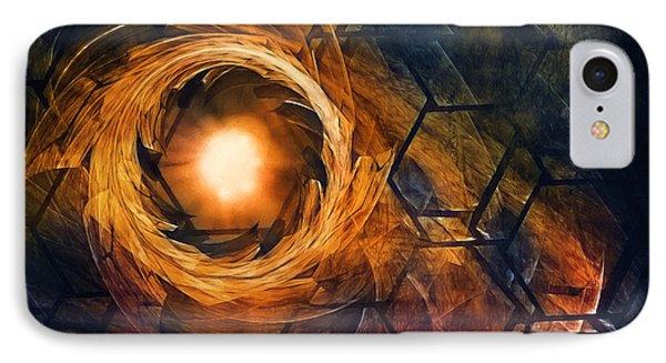 Vortex Of Fire IPhone Case by Scott Norris