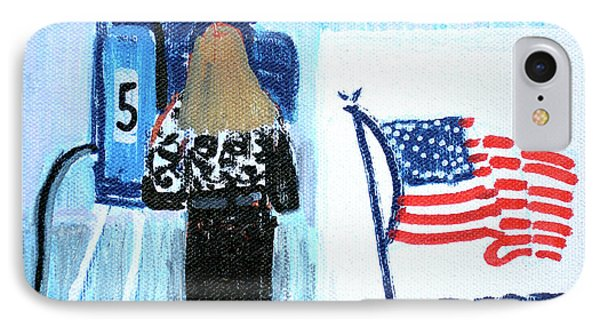 Voting Booth 2008 IPhone 7 Case by Candace Lovely