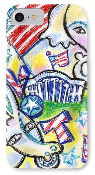 Voting For Political Party IPhone Case by Leon Zernitsky