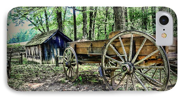 Wagon At The Cabin IPhone Case by Paul Ward