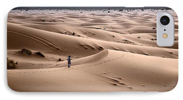 Walking The Desert IPhone Case by Yuri Santin