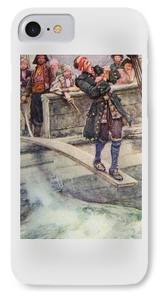 Walking The Plank IPhone Case by Walter Stanley Paget