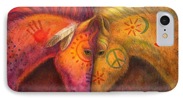 War Horse And Peace Horse Phone Case by Sue Halstenberg