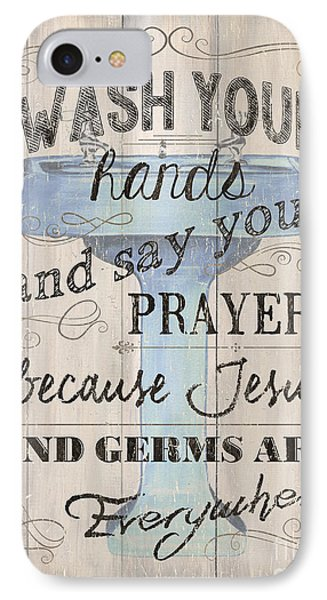 Wash Your Hands IPhone Case by Debbie DeWitt