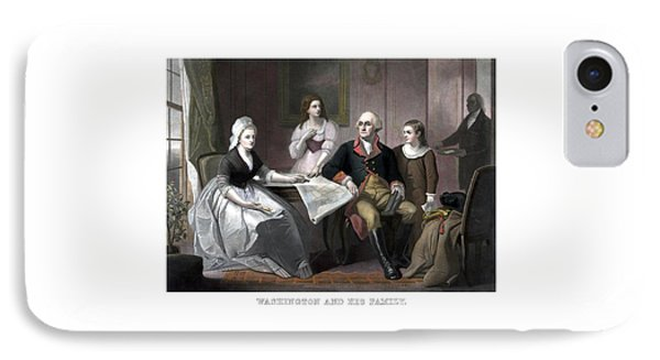 Washington And His Family IPhone Case by War Is Hell Store