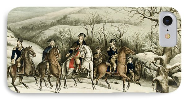Washington And His Staff At Valley Forge IPhone Case by American School