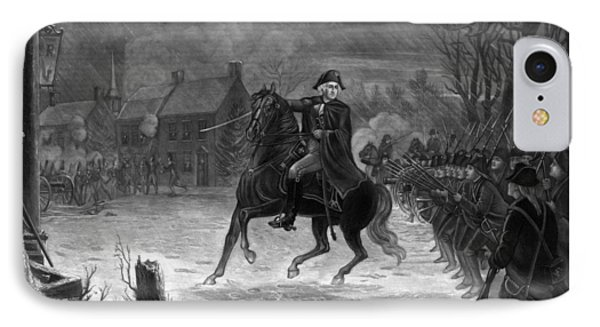 Washington At The Battle Of Trenton IPhone 7 Case by War Is Hell Store