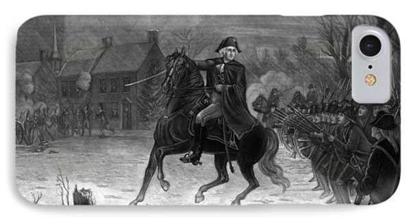 Washington At The Battle Of Trenton IPhone Case by War Is Hell Store