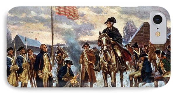 Washington At Valley Forge IPhone Case by Unknown