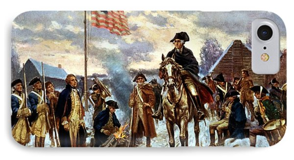 Washington At Valley Forge IPhone 7 Case by War Is Hell Store