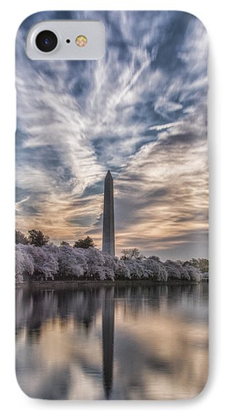 Washington Blossom Sunrise IPhone Case by Erika Fawcett