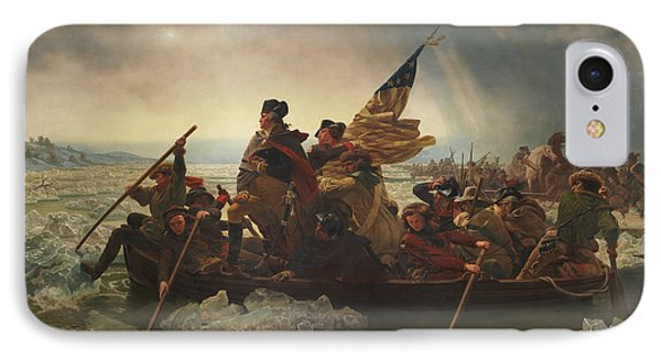 Washington Crossing The Delaware IPhone Case by War Is Hell Store