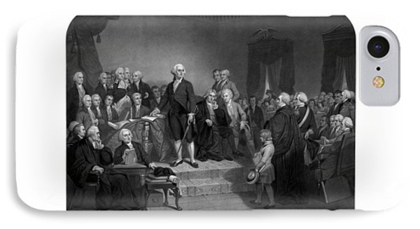 Washington Delivering His Inaugural Address Phone Case by War Is Hell Store