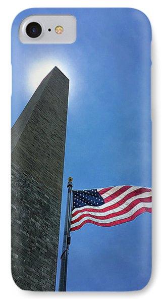 Washington Monument IPhone 7 Case by Andrew Soundarajan