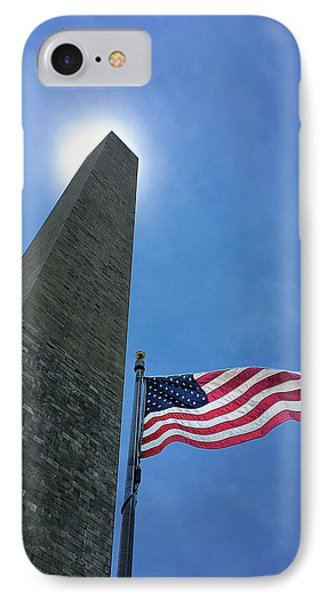 Washington Monument IPhone Case by Andrew Soundarajan