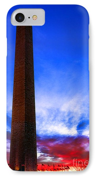 Washington Monument Glory IPhone 7 Case by Olivier Le Queinec