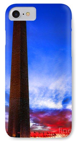 Washington Monument Glory IPhone Case by Olivier Le Queinec