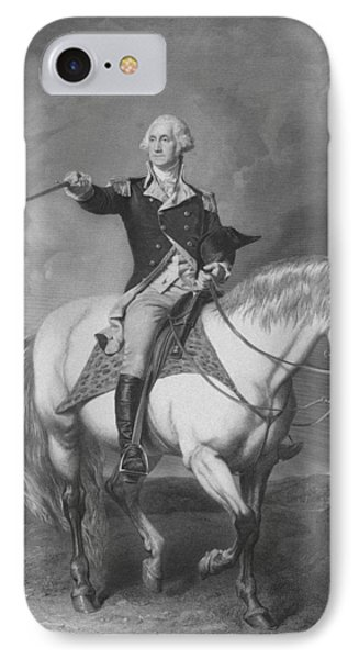Washington Receiving A Salute At Trenton IPhone Case by War Is Hell Store