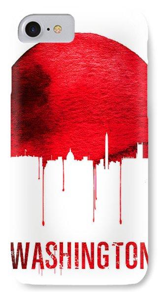 Washington Skyline Red IPhone 7 Case by Naxart Studio
