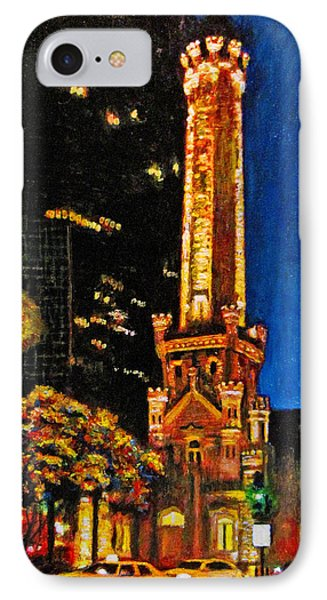 Water Tower At Night Phone Case by Michael Durst