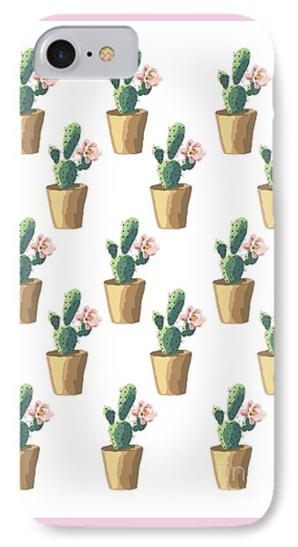 Watercolor Cactus IPhone Case by Roam  Images