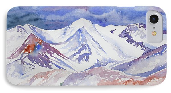 Watercolor view from trail ridge road painting by for Road case paint