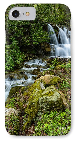 Waterfall Along Back Fork Of Elk River IPhone Case by Thomas R Fletcher