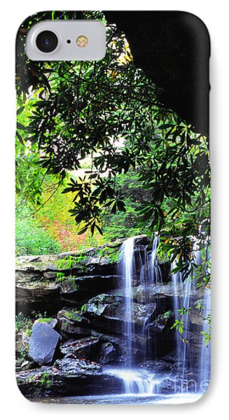 Waterfall And Rhododendron Phone Case by Thomas R Fletcher