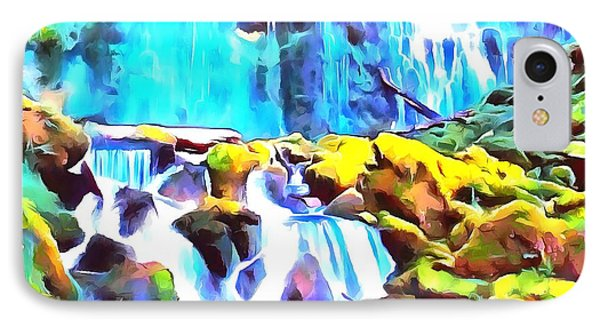 Waterfall Soft And Dreamy In Thick Paint IPhone Case by Catherine Lott