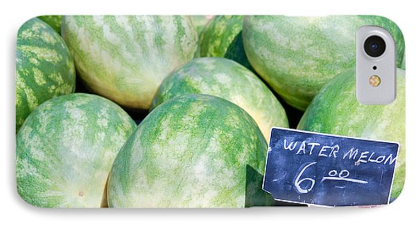 Watermelons With A Price Sign IPhone Case by Paul Velgos