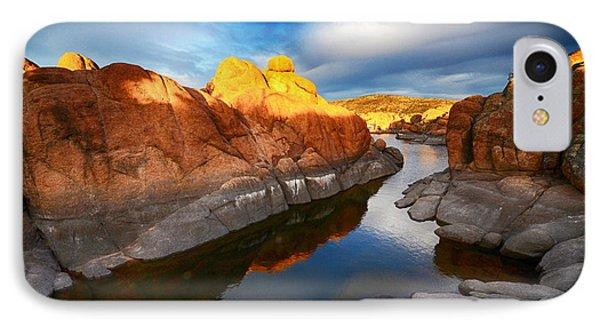 Watson Lake Arizona 10 IPhone Case by Bob Christopher