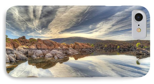 Watson Lake Reflections IPhone Case by Donna Kennedy