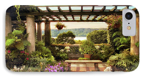 Wave Hill Pergola IPhone Case by Jessica Jenney