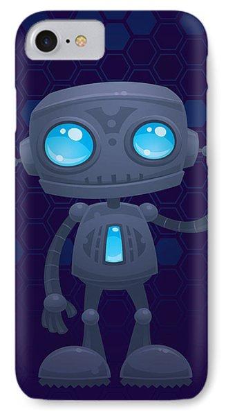 Waving Robot IPhone Case by John Schwegel