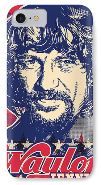 Waylon Jennings Pop Art IPhone 7 Case by Jim Zahniser